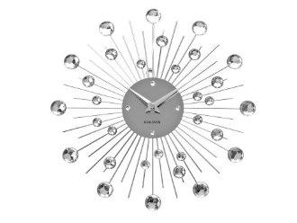 Horloge Murale Métal Argenté