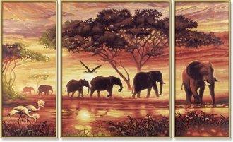 Peinture au Numéro Eléphants