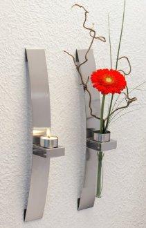 Porte bougies ou fleurs murale x2