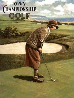 Plaque de golf rétro