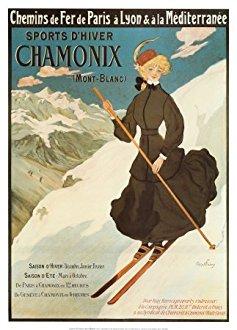 Affiche Chamonix Mont Blanc vintage 50X70