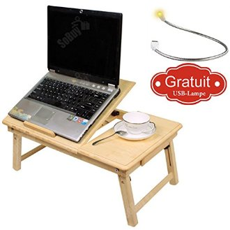 Table de lit pliable pour PC portable