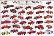 Poster vintage camions de pompier