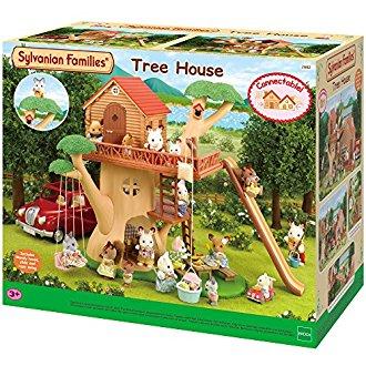 Jouer avec la cabane dans les arbres sylvanian for Arbre maison jouet