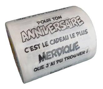 Papier toilette anniversaire
