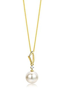 Collier en Or, Perle et Diamant