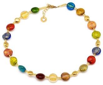 Collier perles de verre