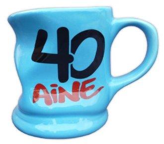 Mug d�form� bleu 40 ans