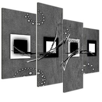 Tableau moderne en 4 parties
