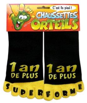 Chaussettes orteils 1 an de plus