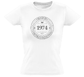 Tee shirt Made in 1974 coupe femme