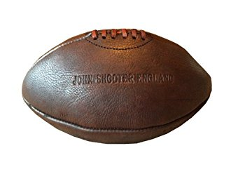 Ballon de rugby vintage cuir