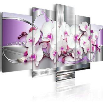 Pentaptyque mural Orchidée