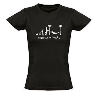 Tee shirt femme retraite �volution