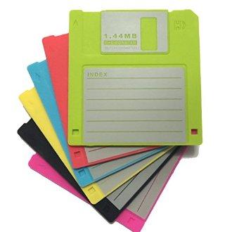 6 dessous de verre disquette silicone
