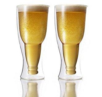 Verre à bière original bouteille inversée