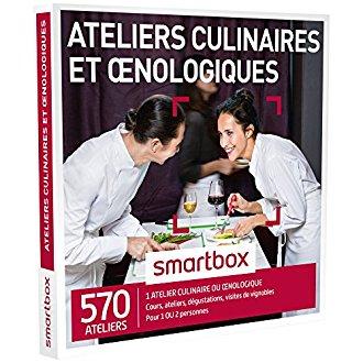 Coffret atelier culinaire ou oenologie