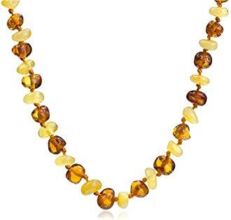 Collier d'ambre multicolore pour bébé