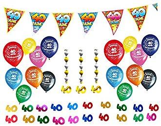 Pack déco anniversaire 40 ans