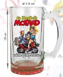 Chope à bière La blonde du motard