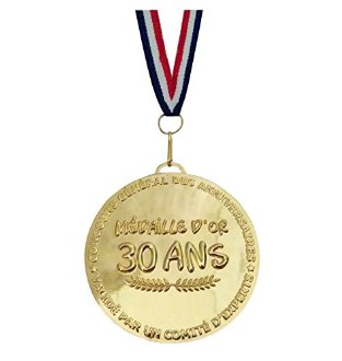 M�daille d'or 30 ans