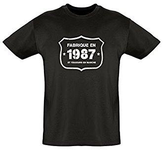 Tee shirt homme année cadeau 30 ans