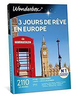 Coffret 3 jours en europe