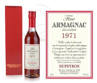 Bouteille d'Armagnac année de naissance