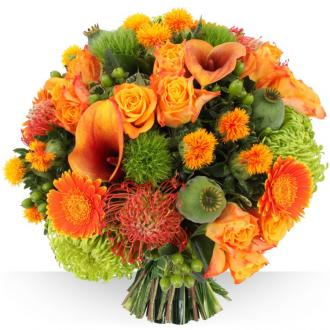 Bouquet de fleurs orange