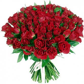 Bouquet 101 roses rouges - Effet garanti !