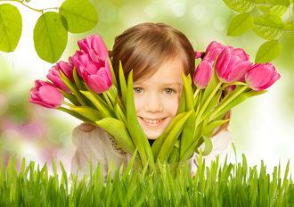 Fleurs et f�te des m�res