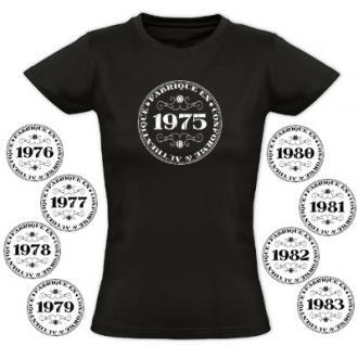 Tee shirt femme vintage spécial année
