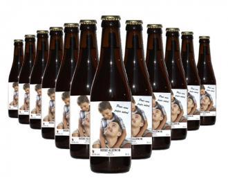 12 bouteilles de bière personnalisées