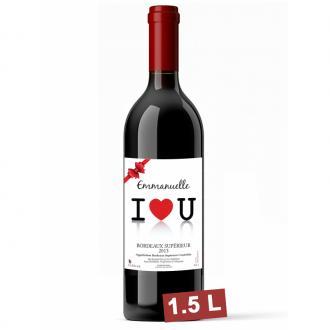 Coffret Magnum Bordeaux personalisé