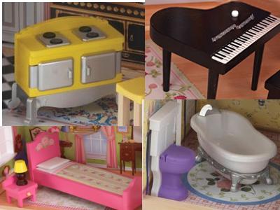 Les accessoires de la maison de poupées