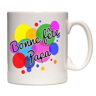 Le mug de fête des pères coloré