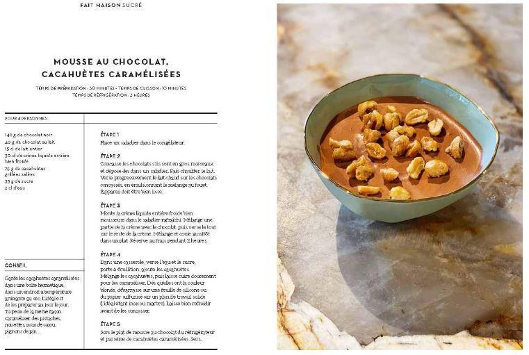Une recette extraite du livre de recette - mousse au chocolat