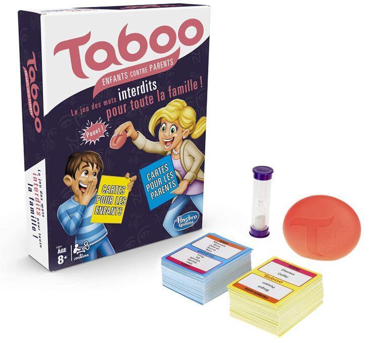 Le contenu de la boîte Taboo