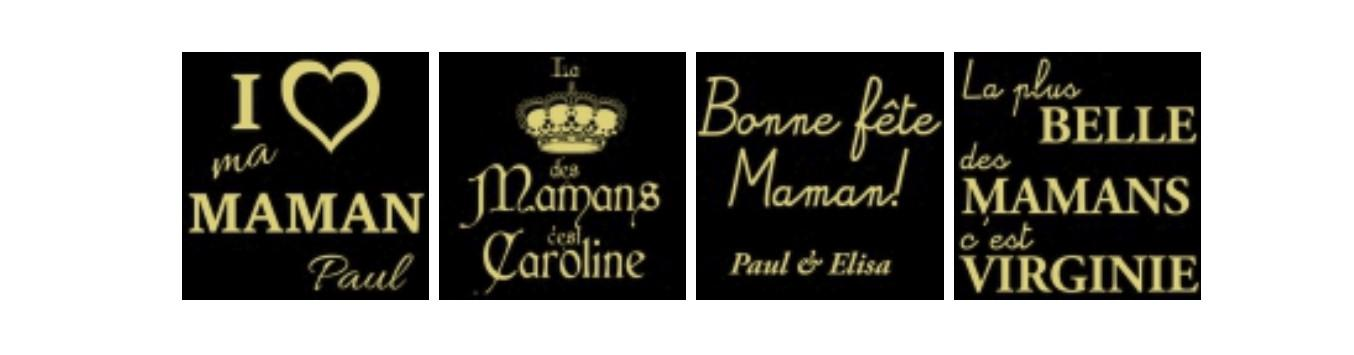 bougie personnalise maman