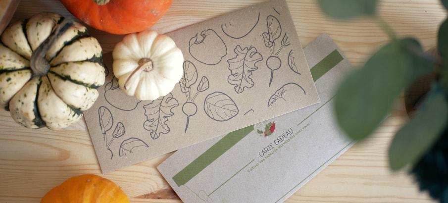 Carte cadeau jardinage 12 mois