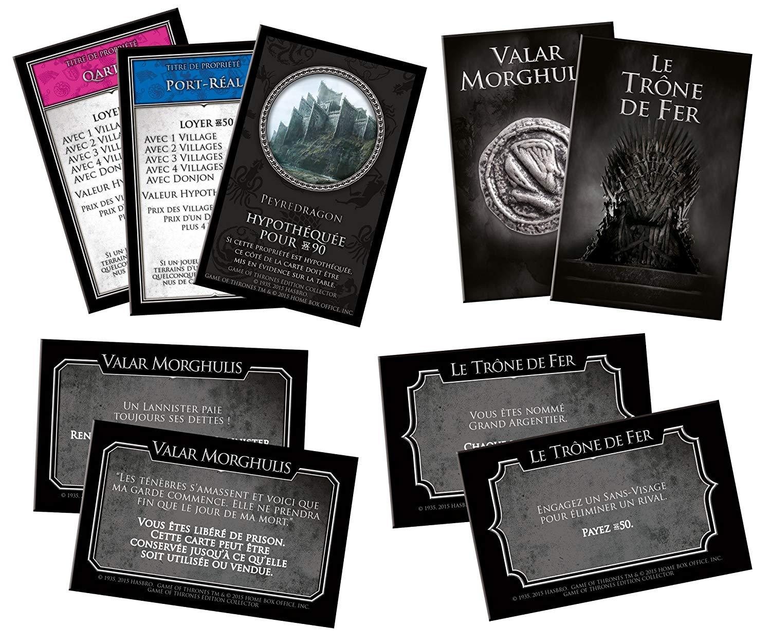 Cartes Monopoly Game Of Thrones
