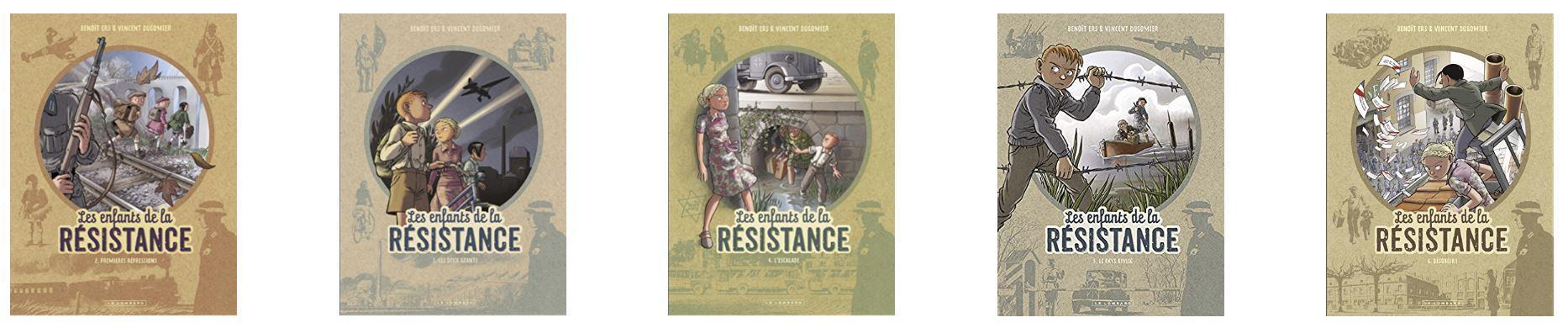Les enfants de la résistance tomes 2 à 6