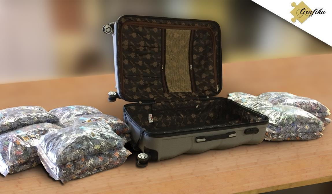 puzzle de 54000 pièces dans sa valise