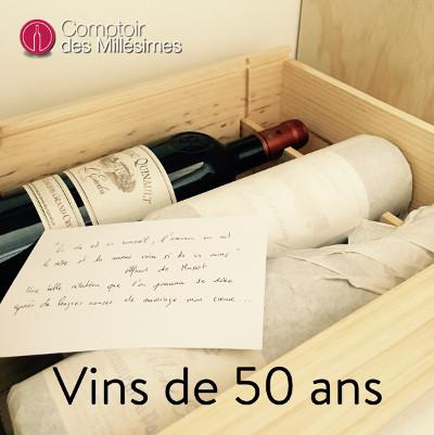 Bouteille de vin 50 ans d'âge
